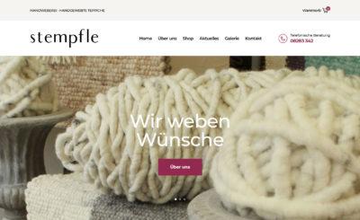 Dritter Relaunch – jetzt mit Online-Shop für Webteppiche