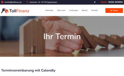 Website mit  Online-Terminkalender Calendly